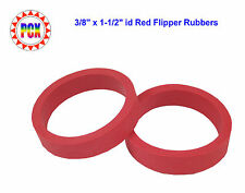 """Two Red Flipper Rubber Rings - smaller 3/8"""" x 1-1/2"""" Gottlieb Williams"""