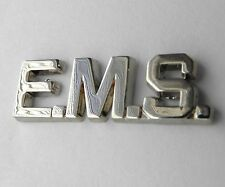 EMS EMERGENCY MEDICAL SERVICES SCRIPT PARAMEDIC SILVER COLOR LAPEL PIN 1 INCH