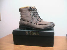 Mens 10 MARK NASON Lounge 71950 Amador Brown Leather Moc Toe Boots, MSRP $200.00