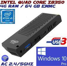 Intel Quad Core Z8350 4G 64GB AC Wifi Windows 10 Pro Compute Stick Mini PC