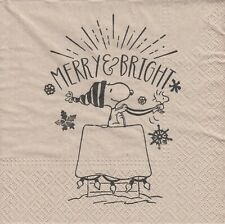 2 Lunch Paper Servietten Napkins (ooF12)  Snoopy  Merry and Bright