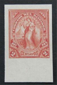 nystamps El Salvador Stamp Imperf Proof       S24x1062