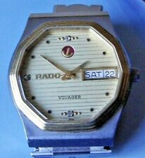 TRES RARE Vintage RADO Voyager Plaquée Or  SWISS MADE pour homme  🚚 FAST & FREE