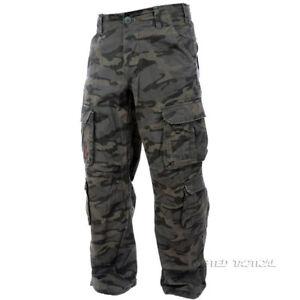 Max Fuchs Pure Trash Defense Mens Combat Cargo Trousers Army Military Dark Camo