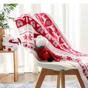 Kid Christmas Snowman Blanket Fluffy Super Soft Couch Cover Blanket Xmas Gift YG