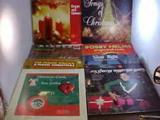 Christmas Records Lot of 9 Assorted Artists Jim Nabors Bobby Helms and more Lp's