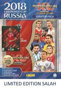 2018 PANINI ADRENALYN FIFA WORLD CUP STARTER PACK ALBUM 18 CARDS +  LE SALAH