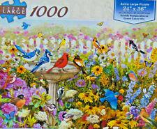 .PUZZLE..JIGSAW...Greg And Co....Garden Birdbath...Factory Sealed...1000pc