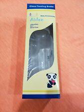 Aidee Baby Glass Feeding Bottle with Silicone Nipple 9 Oz  / 250 ml Each