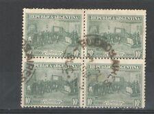 R310 - ARGENTINA 1916 - QUARTINA USATA COMMEMORATIVA TEMATICA N. 202 - VEDI FOTO