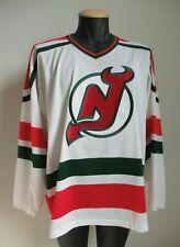 New Jersey Devils CCM Christmas Jersey Sz L Vintage NHL NJ