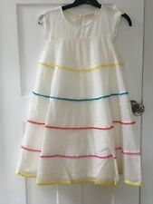 BRAND NEW MINI BODEN WOVEN TWIRLY IVORY SUMMER PARTY DRESS AGE 11-12 YEARS