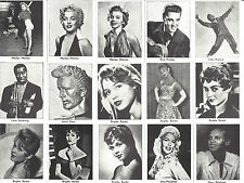 1960 Dutch Val Gum Movie star 38 Card Reprint Set Limited Edition of 5,000 Sets