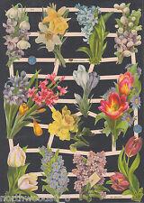 FLORAL SPRING BULBS CROCUS TULIP BLOOM COLLAGE ART ALTER PAPER SCRAP EF GERMAN