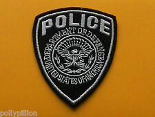 FANCY DRESS AMERICAN POLICE SEW ON / IRON ON PATCH:- POLICE (a) BLACK SHIELD