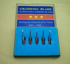 5Pcs 45° HQ Graphtec CB 15 Blades for Vinyl Cutter Cutting Plotter