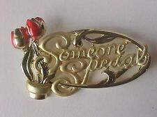 "Red Rose Gold 2-1/4"" Rose Pin Someone Special Pin"