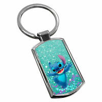 Stitch Keyring Chrome Metal New Key Chain Ring Fob Comes With Free Gift Box