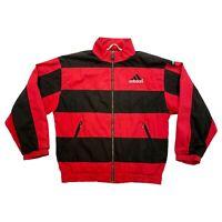 Adidas Equipment Quilted Jacket | Vintage 90s Retro Sportswear Red Black VTG