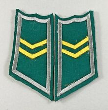 Original Finnish Army SA WW II  Collar Patches  Infantry Lance Corporal