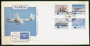 Mayfairstamps Samoa FDC Ship and Plane Combo Ameripex First Day Cover wwp_53709