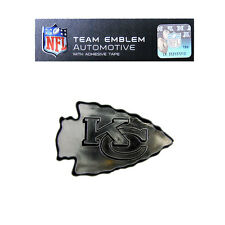 Promark New NFL Kansas City Chiefs Plastic Chrome 3-D Auto Emblem Sticker Decal