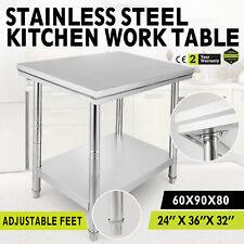 610x915mm Acero inoxidable mesa de trabajo Food Preparation Kitchen Work Table