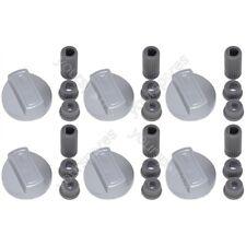 6 X Universal Beko, Leisure, Flavel Chrome Cooker Oven Hob Control Knob Silver