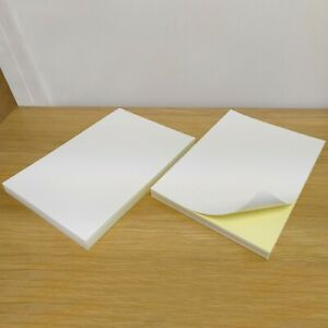 100 x A4 White Glossy Self Adhesive Inkjet Laser Printing Address Sticker Paper
