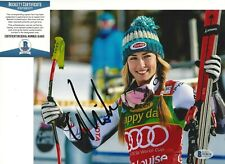 SKIER MIKAELA SHIFFRIN SIGNED 8x10 PHOTO OLYMPIC GOLD MEDAL SLALOM 4 BECKETT COA