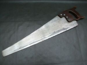"Vintage 24"" panel hand cross cut saw old tool No 51 by E C Atkins & Co"