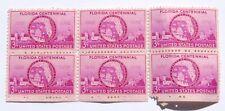 Florida Centennial 1845-1945 3 Cent Postage Stamps (6) WWII Era