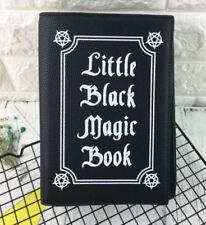 Gothic little black magic book handtasche clutch schwarz Steampunk B092