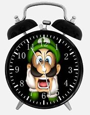 "Luigi Super Mario Alarm Desk Clock 3.75"" Home or Office Decor E380 Nice For Gift"