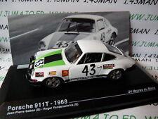 24H21M 1/43 IXO Altaya Passion vitesse GT PORSCHE 911T 24 Heures Mans 1968 Gaban