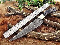 "Damascus steel slicer kitchen chef Knife 13.5""  long custom made 8"" blade"