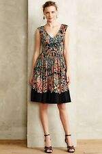 Anthropologie Plenty By Tracy Reese V-Neck Midi Confetti Floral Dress Size 8