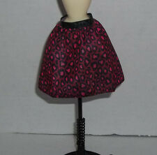 Barbie Fashionistas Doll Black and  Pink Full Animal Print Skirt