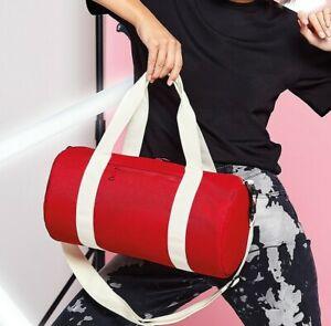 Bagbase Mini Barrel Bag Small Holdall Gym Duffel Varsity Travel Sport (BG140S)