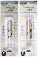 PHYSICIANS FORMULA* 2-in-1 Stick CONCEALER TWINS Correct+Cover *YOU CHOOSE* New!
