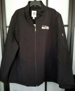 Seattle Seahawks G-III Sports by Carl Banks College Black Full-Zip Jacket Sz 2XL
