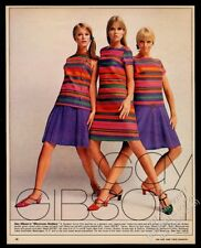 1967 Gay Gibson Moroccan Sizzlers psychedelic color striped dress vintage ad
