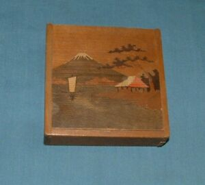 VINTAGE JAPANESE HANDCRAFTED HARDWOOD GAME BOX - 1960'S - GOOD CONDITION