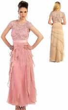 Dusty Rose Mother of Bride/Groom Dress Party Prom Evening Cocktail 4XL Fit 18