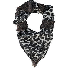 Furla Shawl Scarf Large 130cm x 130cm 100% Silk Animal Print New Italy