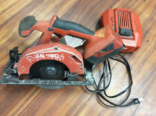 Hilti Scw 22 A Cordless Circular Saw With Battery Amp Charger Used Tested Works