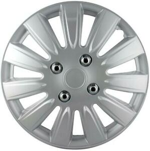 """QUALITY 15"""" GEARX WHEEL COVERS SILVER CRYOPHIS STYLE SET OF 4"""