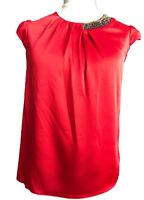 Ladies Special Occasions Parties Satin Blouse Top Red UK Sizes 14 NEW Branded