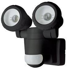Twin Spot 20w (2 x 10w) LED Adjustable Beam Floodlight c/w PIR in Black - EH420