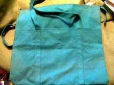 Large Green Canvas 2 Handle Beach Shopping Tote Travel Pool Shoulder Bag